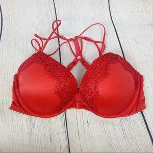 Victoria's Secret Red Very Sexy Push Up Bra 36D